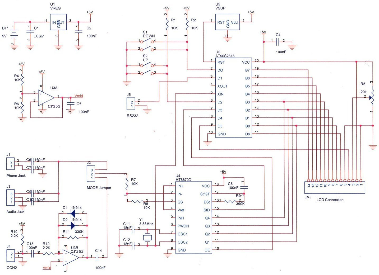 Dtmf Decoder For Under 70 Can Ics Wiring Diagram Parts Placement Before Beginning Assembly Proper Orientation Of Diodes And Capacitors Begin By Installing The Seven Jumper Wires